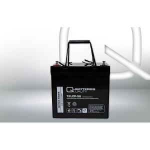 Q-Batteries 12LCP-56 12V 56Ah Blei-Akku / AGM Batterie Zyklenfest