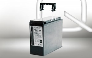 Q-Batteries Frontterminal 12LFT-55 12V 57Ah Blei-Akku / AGM Batterie