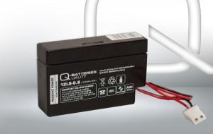 Q-Batteries 12LS-0.8 AMP 12V 0,8Ah AGM Batterie Akku