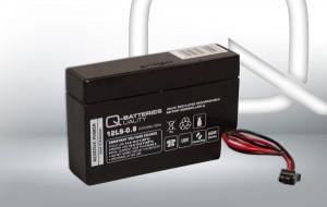 Q-Batteries 12LS-0.8 Molex 12V 0,8Ah AGM Batterie Akku