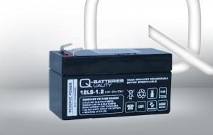 Q-Batteries 12LS-1.2 12V 1,2Ah AGM Batterie Akku VdS
