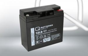Q-Batteries 12LS-17 12V 17Ah AGM Batterie Akku VdS