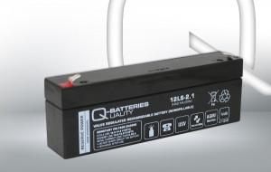 Q-Batteries 12LS-2.1 12V 2,1Ah AGM Batterie Akku VdS