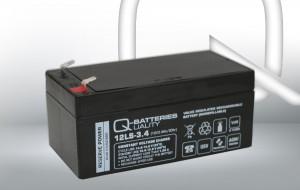 Q-Batteries 12LS-3.4 12V 3,4Ah AGM Batterie Akku VdS