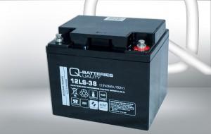 Q-Batteries 12LS-38 12V 38Ah AGM Batterie Akku VdS