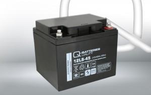 Q-Batteries 12LS-45 12V 45Ah AGM Batterie Akku VdS
