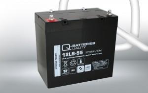 Q-Batteries 12LS-55 12V 55Ah AGM Batterie Akku