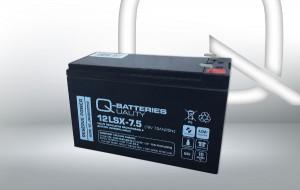 Q-Batteries 12LSX-7.5 12V 7,5Ah AGM Batterie Akku Longlife