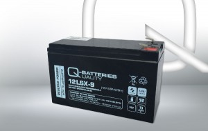 Q-Batteries 12LSX-9 12V 8,8Ah AGM Batterie Akku Longlife