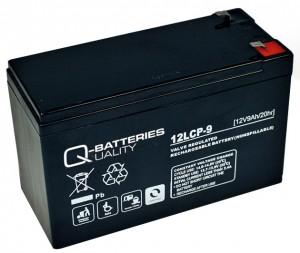 Q-Batteries 12LCP-9 12V 9Ah Blei-Akku / AGM Batterie Zyklentyp