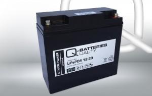Q-Batteries 12-20 LiFePo4 Lithium-Eisenphosphat Akku - 12,8V 20Ah