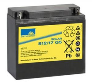 Sonnenschein Solar S12/17 G5 12V 17Ah Blei Gel-Batterie