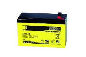 Sun Battery SB12-7.2 12V 7,2Ah Bleiakku VdS Faston 4,8mm Anschluss