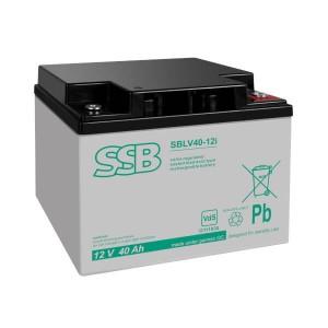 SSB SBLV40-12i Akku / Batterie - 12V 40Ah AGM VdS