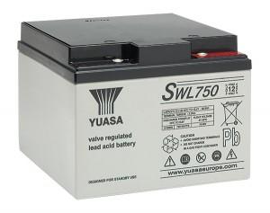 Yuasa SWL750 12V 25Ah Blei-Akku / AGM Batterie