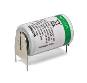 Saft Lithium Batterie LS14250 | 3PF + Pol Doppelspieß / - Pol Einzelspieß