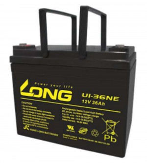 Kung Long U1-36NE 12V 36Ah Blei-Akku / AGM Batterie Zyklenfest