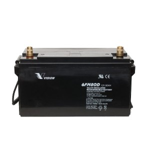 Vision 6FM80D-X 12V 80Ah Blei-Akku / AGM Batterie Zyklenfest