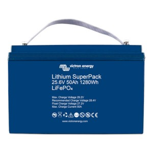 Victron Energy Lithium SuperPack 25.6V 50Ah LiFePO4 Batterie