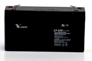 Vision CP612 6V 1,2Ah Blei-Akku / AGM Batterie