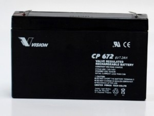 Vision CP672 6V 7,2Ah Blei-Akku / AGM Batterie
