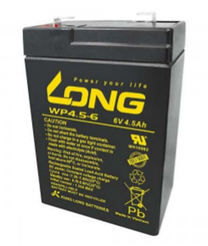 Kung Long WP4.5-6 6V 4,5Ah Blei-Akku / AGM Batterie