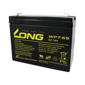 Kung Long WP7-6S 6V 7Ah Blei-Akku / AGM Batterie Faston 250 Anschluss
