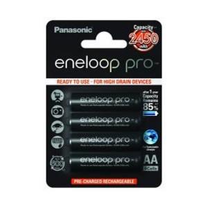 Panasonic Eneloop Pro 3HCCE NiMh Mignon AA 1,2V / 2450mAh Akku 4er Blister