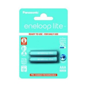 Panasonic Eneloop Lite 4LCCE NiMh Mikro AAA 1,2V / 550mAh Akku 2er Blister