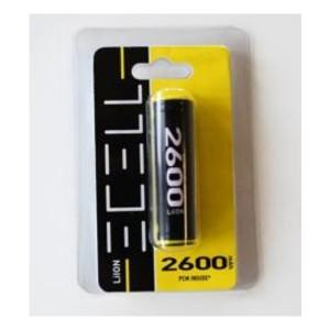 ECELL 18650 LiIon 3,7V / 2600mAh inkl. PCM Schutzbeschaltung im Blister