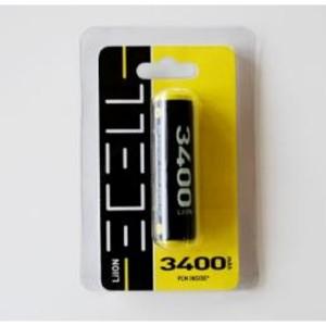 ECELL 18650 LiIon 3,7V / 3400mAh inkl. PCM Schutzbeschaltung im Blister