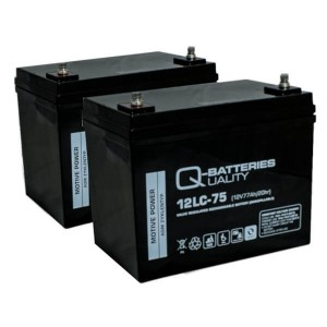 Ersatzbatterie Set für E-Rollstuhl Invacare Storm - 2x 12V 77Ah