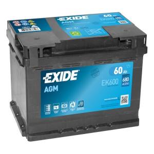 Exide Start-Stop EK600 Batterie - 12V 60Ah
