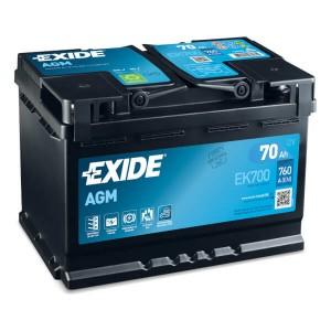 Exide Start-Stop EK700 Batterie - 12V 70Ah