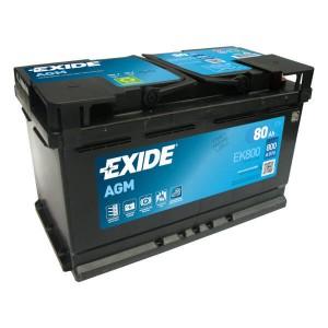 Exide Start-Stop EK800 Batterie - 12V 80Ah