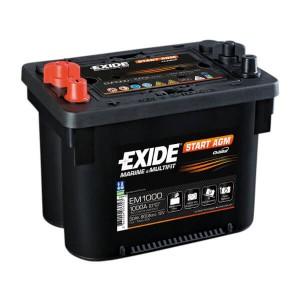 Exide Dual AGM EM1000 Batterie - 12V 50Ah