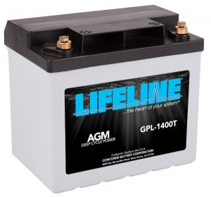 Lifeline GPL-1400T Deep Cycle AGM Batterie - 12V 43Ah