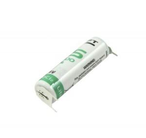 Saft Lithium Batterie LS14500 | 3PF 3,6V + Pol Doppelspieß RM10 / - Pol Einzelspieß
