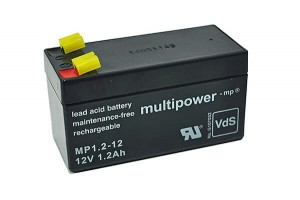 Multipower MP1.2-12 VdS 12V 1,2Ah Blei-Akku / AGM Batterie