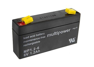 Multipower MP1.2-6 6V 1,2Ah Blei-Akku / AGM Batterie