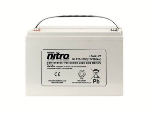 nitro NLP12-100E Batterie / Akku - 12V 100Ah AGM Long Life