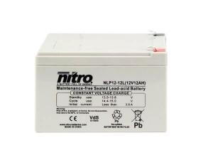 nitro NLP12-12L Batterie / Akku - 12V 12Ah AGM VdS