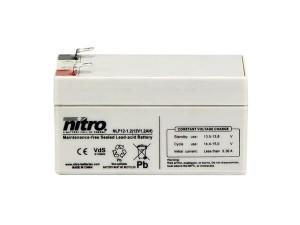 nitro NLP12-1.2 Batterie / Akku - 12V 1,2Ah AGM VdS