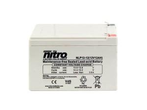 nitro NLP12-12 Batterie / Akku - 12V 12Ah AGM VdS