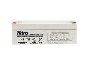 nitro NLP12-2.3 Batterie / Akku - 12V 1,2Ah AGM VdS