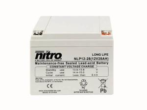 nitro NLP12-28 Batterie / Akku - 12V 28Ah AGM Long Life