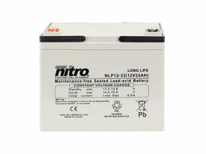 nitro NLP12-33 Batterie / Akku - 12V 33Ah AGM Long Life