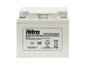 nitro NLP12-38 Batterie / Akku - 12V 38Ah AGM VdS