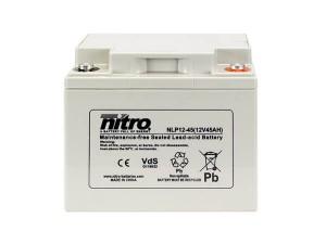 nitro NLP12-45 Batterie / Akku - 12V 45Ah AGM VdS