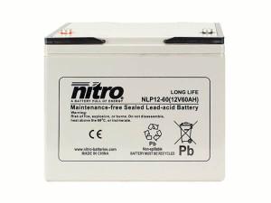 nitro NLP12-60 Batterie / Akku - 12V 60Ah AGM Long Life